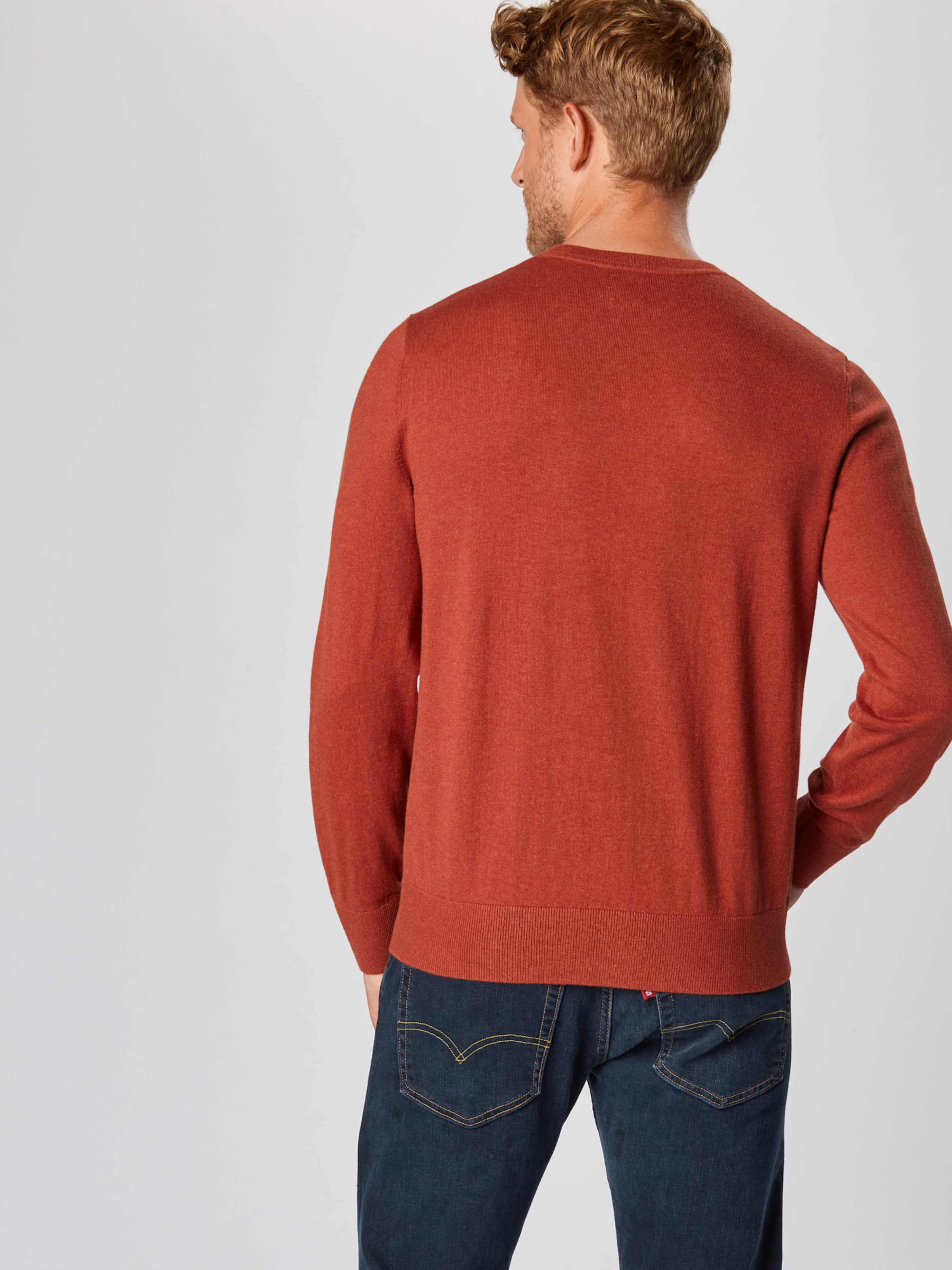 Gap core Pullover 'v Vee' Orangerot Cotton In 0X8OwnPk