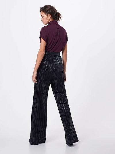 HUGO Spodnie 'Heplissa-1' w kolorze czarnym: Widok od tyłu