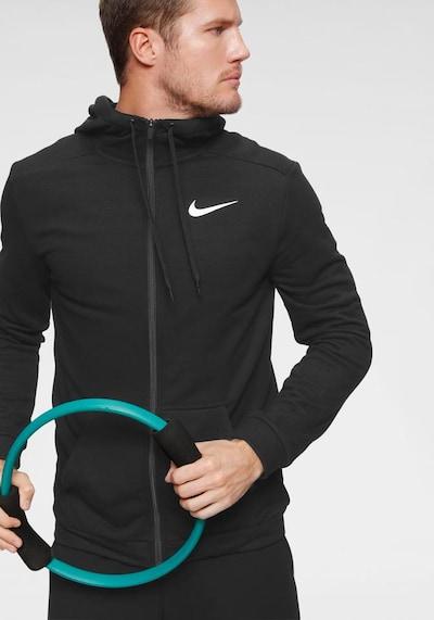 NIKE Trainingsjacke in schwarz: Frontalansicht