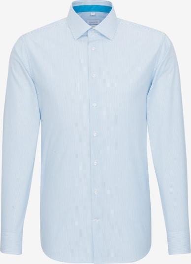 SEIDENSTICKER Hemd in blau / weiß: Frontalansicht
