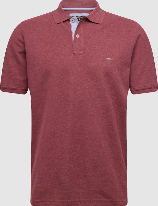 FYNCH-HATTON Shirt 'Polo Melange' in weinrot  Große Preissenkung