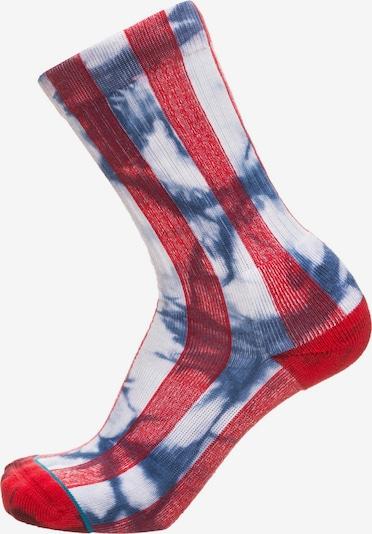 Stance Socken 'Foundation Star' in blau / rot / weiß, Produktansicht