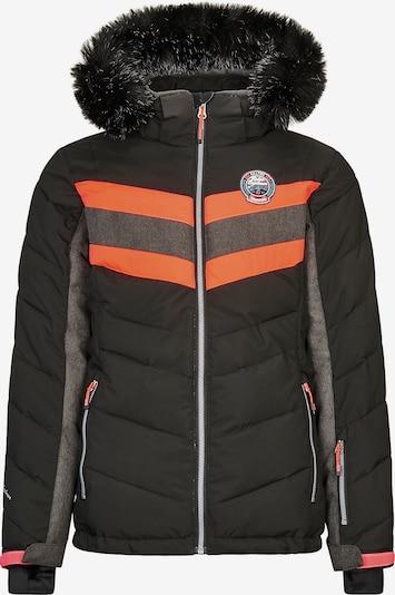 KILLTEC Skijacke 'Jayce' in grau / orange / schwarz, Produktansicht