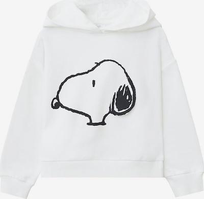 MANGO KIDS Sweatshirt 'Snoopy' in schwarz / weißmeliert, Produktansicht