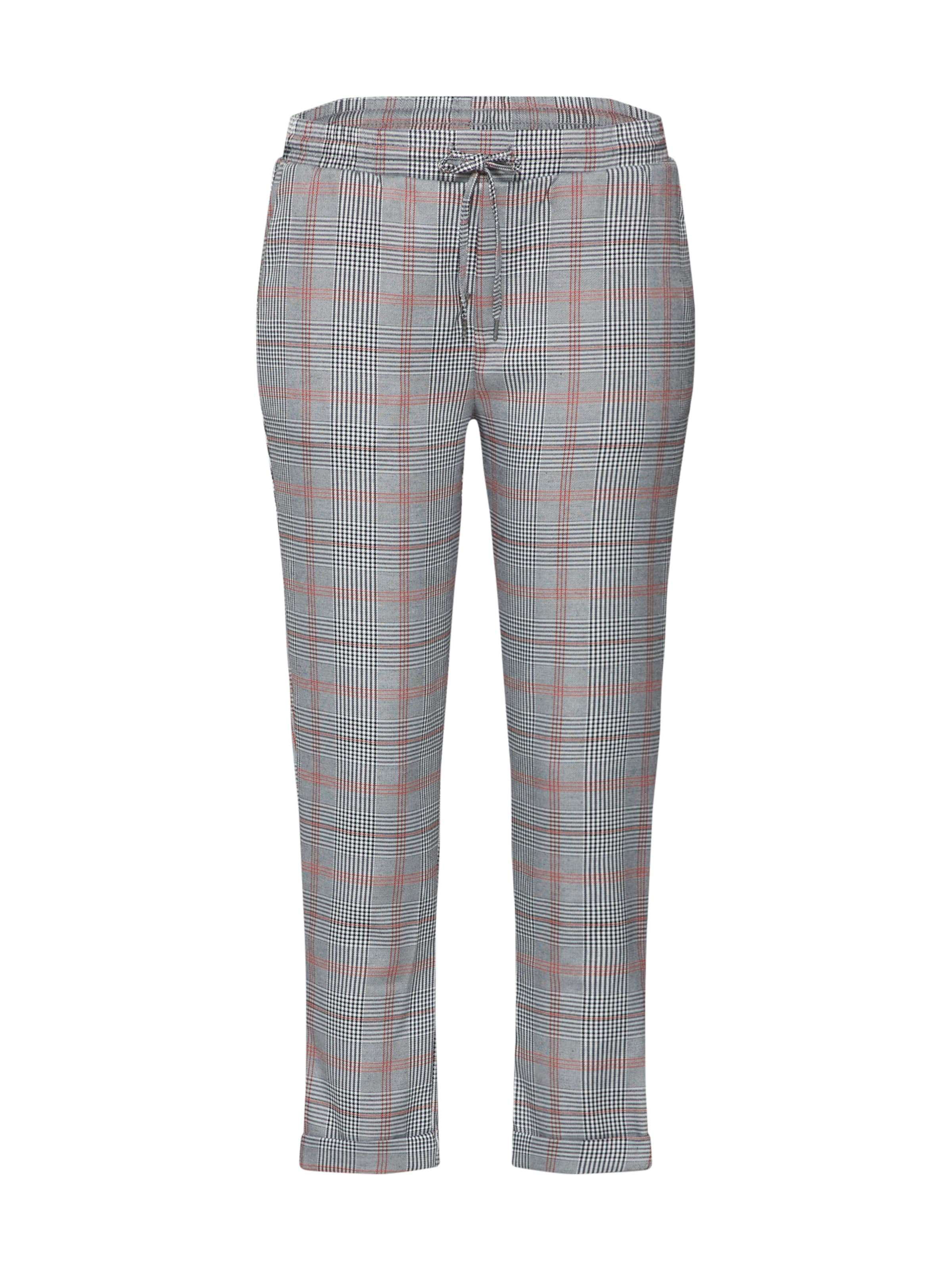 Trousers' Hose In Schwarz Sublevel GrauRot 'checked wOXP8kn0