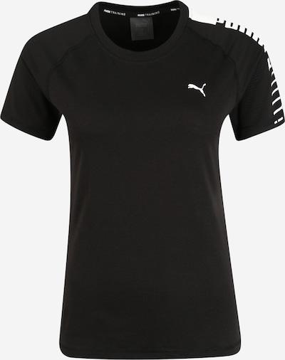 PUMA T-shirt fonctionnel en noir / blanc, Vue avec produit