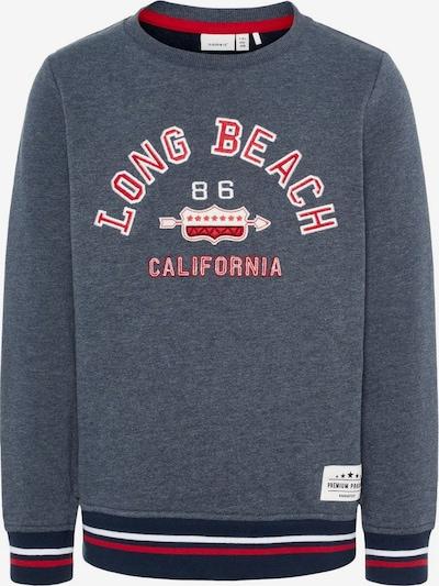 NAME IT Sweatshirt in marine / enzian / rot / weiß, Produktansicht