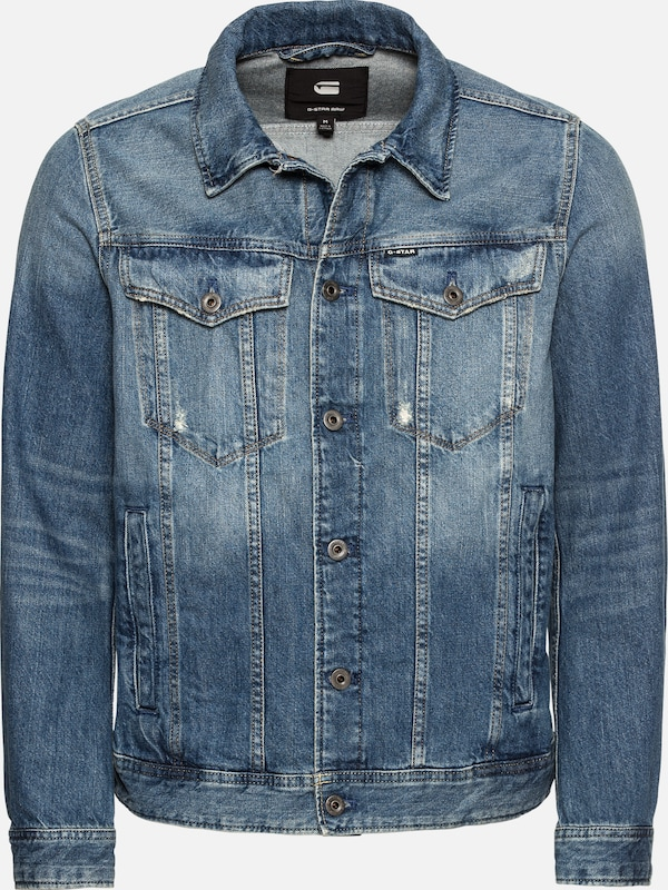 Denim G '3301' Blue Raw star Jeansjacke wqrxqnXB