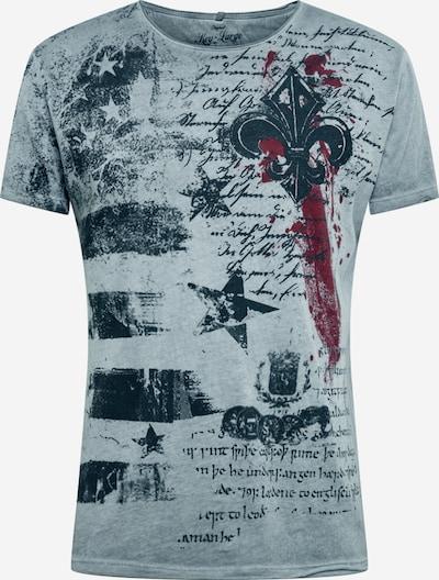 Key Largo Shirt in graumeliert / dunkelrot / schwarz, Produktansicht