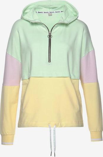 BENCH Kapuzensweatshirt in pastellgelb / pastellgrün / pastelllila, Produktansicht