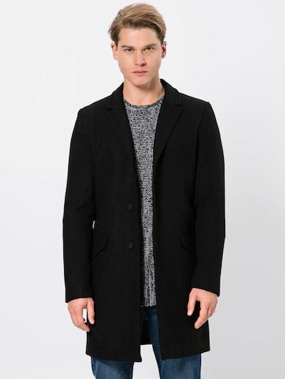 Only & Sons Płaszcz przejściowy 'JULIAN SOLID WOOL COAT' w kolorze czarnym, Podgląd na modelu(-ce)