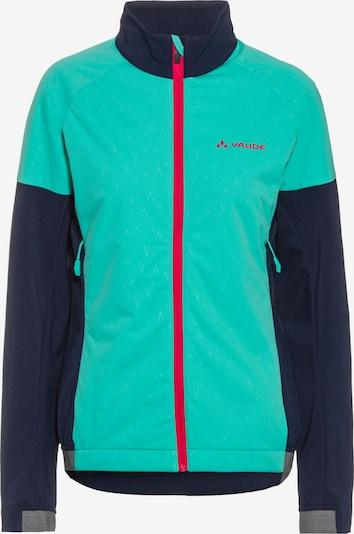 VAUDE Funktionsjacke 'Primasoft Jacket II' in dunkelblau / mint / mischfarben / rot, Produktansicht