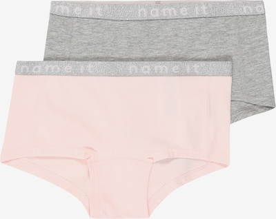 NAME IT Slips 'NKFHIPSTER 2P WE BARELY PINK LUREX NOOS' in graumeliert / rosa, Produktansicht
