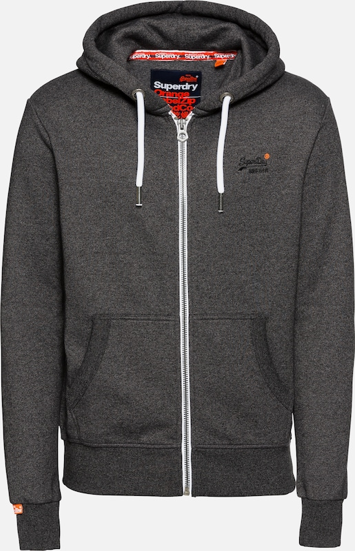 Basalte 'orange En Superdry De Gris Survêtement Label' Veste srxdCtQh