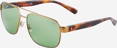 POLO RALPH LAUREN Zonnebril '0PH3130' in de kleur Bruin / Goud / Groen, Productweergave