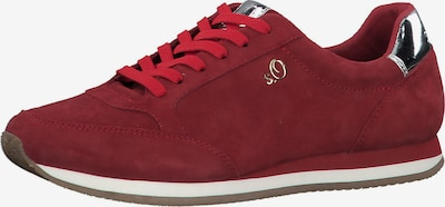 s.Oliver Sneakers Low in rot / silber / weiß, Produktansicht