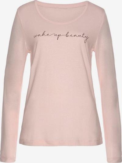 VIVANCE Schlafshirt in rosa / schwarz, Produktansicht