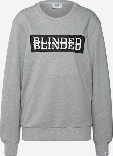 BECK2BECK Mikina 'BTOBblinded2' - sivá melírovaná / čierna / biela, Produkt