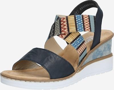 RIEKER Sandaal in de kleur Gemengde kleuren / Zwart, Productweergave