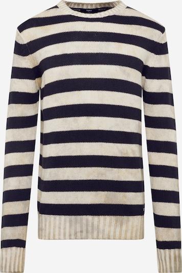 tigha Pullover 'Eddy' in beige / dunkelblau, Produktansicht