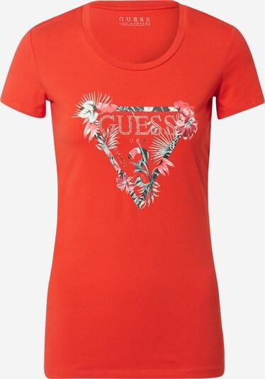 GUESS T-shirt 'SS CN LORY' en rouge, Vue avec produit