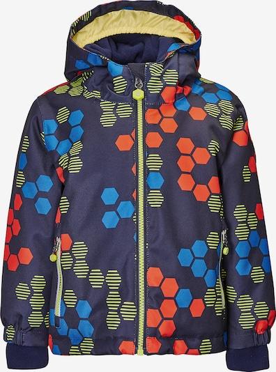 KILLTEC Funktionsjacke 'Carry' in blau / nachtblau / gelb / rot, Produktansicht