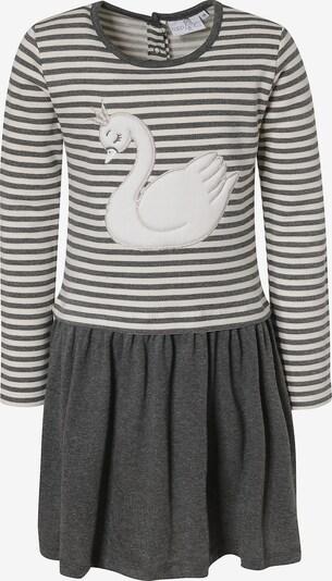 happy girls Sweatkleid in grau / weiß: Frontalansicht