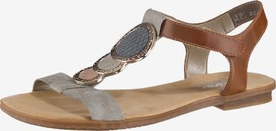 RIEKER Sandale in braun / grau, Produktansicht