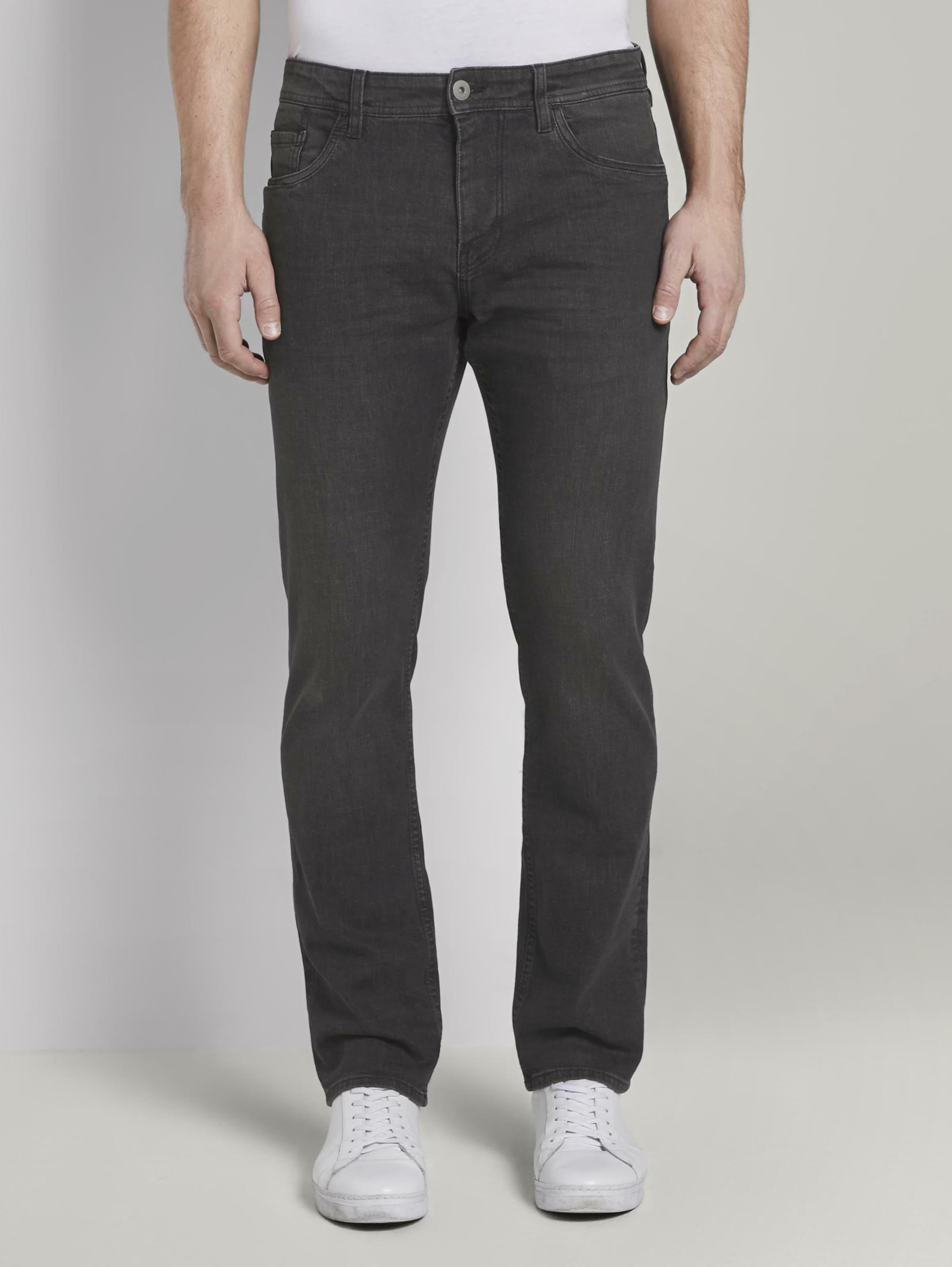 TOM TAILOR Jeans 'Josh' in black denim Unifarben 1017302091
