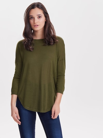 ONLY Pullover in oliv: Frontalansicht