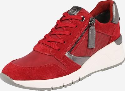 TAMARIS Sneaker in silbergrau / rot / weiß, Produktansicht