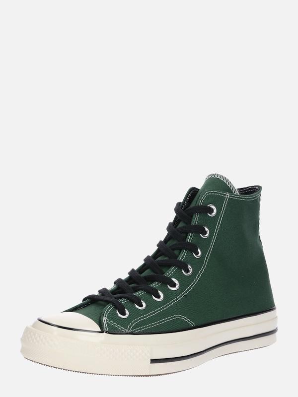 CONVERSE Sneaker 'CHUCK 70 HI' in dunkelgrün weiß