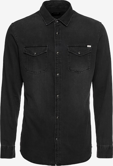 JACK & JONES Overhemd 'JJESHERIDAN SHIRT L/S' in de kleur Black denim, Productweergave