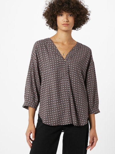 Esprit Collection Bluse in mischfarben / schwarz: Frontalansicht