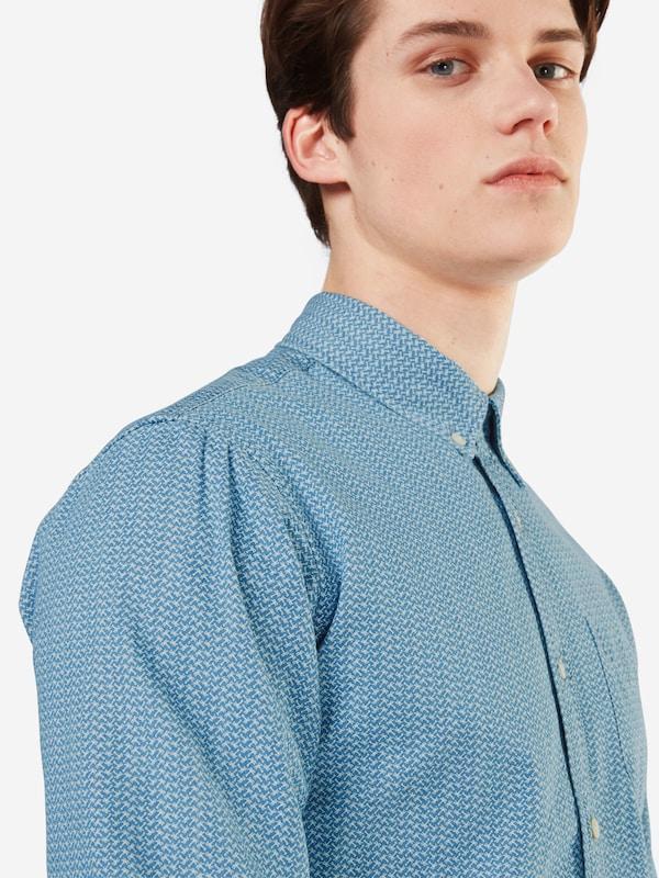 Scotch &; Soda Hemd ams Blauw Chemise À Manches Longues Imprimées