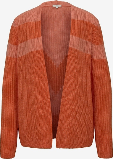 TOM TAILOR Cardigan in koralle / dunkelorange, Produktansicht