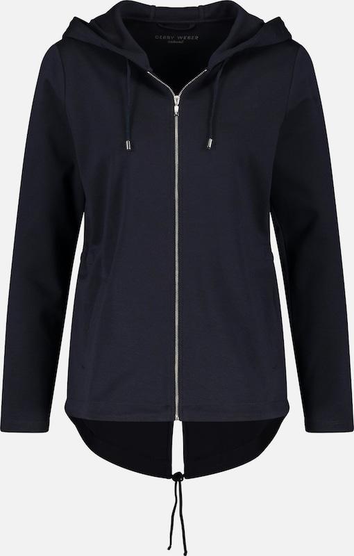 GERRY WEBER Gewirke Sweatjacke mit Kapuze in nachtblau    Markenkleidung für Männer und Frauen d3e7f7