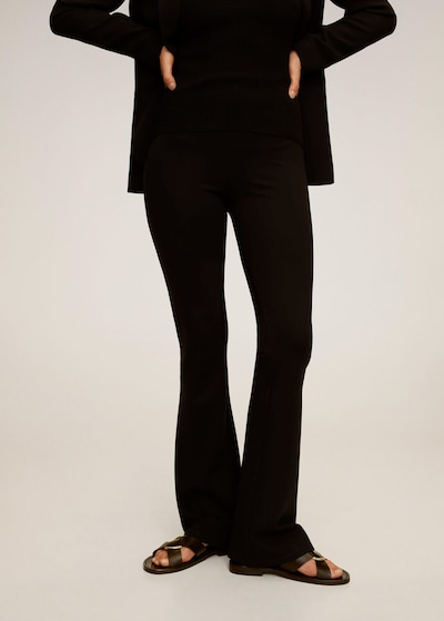 MANGO Leggings in schwarz, Modelansicht