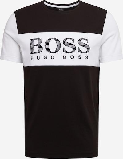 BOSS ATHLEISURE Majica 'Tee 6' | črna / bela barva, Prikaz izdelka