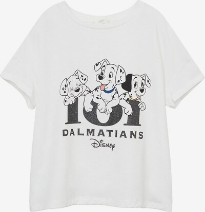 MANGO KIDS Majica u tamo siva / bijela, Pregled proizvoda