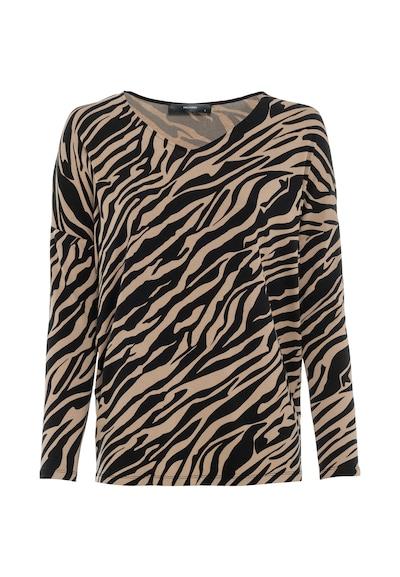 HALLHUBER Oversize-Shirt mit Zebramuster in beige, Produktansicht