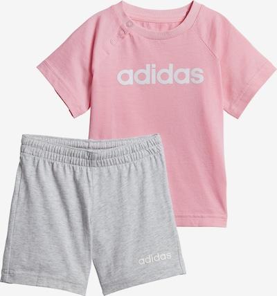 ADIDAS PERFORMANCE Joggingsanzug in graumeliert / rosa, Produktansicht