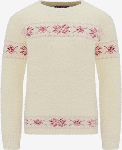 MYMO Pullover in pastellrot / wollweiß, Produktansicht