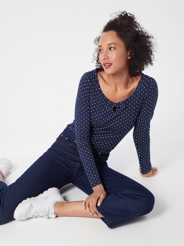 Bleu MarineBlanc T En Esprit shirt Ok80wPn