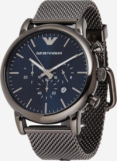 Emporio Armani Uhr in blau / silber, Produktansicht