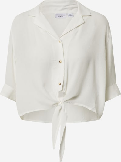 Noisy may Shirt 'NMALBERTE S/S CROPPED TIE SHIRT' in weiß, Produktansicht