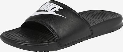 Saboți 'BENASSI' Nike Sportswear pe negru / alb, Vizualizare produs