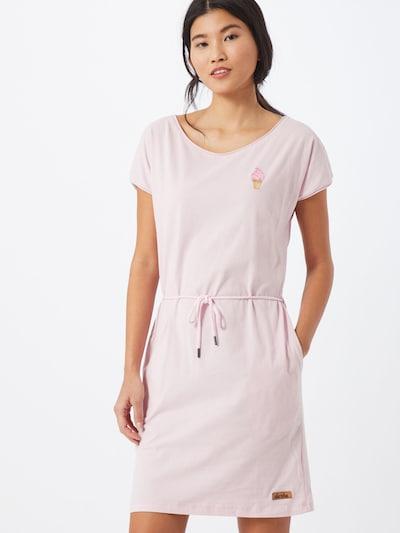 Derbe Kleid 'Soft Ice' in hellbraun / pink / rosé, Modelansicht
