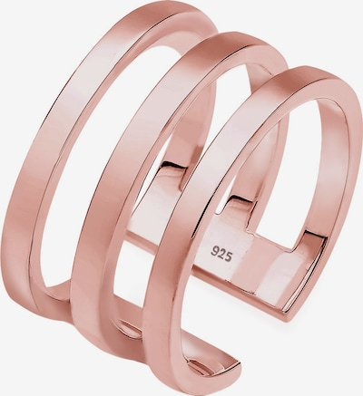 ELLI Bague 'Geo' en or rose, Vue avec produit