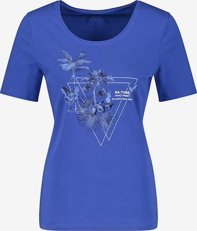 GERRY WEBER T-Shirt 1/2 Arm T-Shirt mit Frontprint in blau, Produktansicht